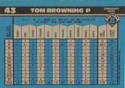 1990 Bowman Tiffany #43 Tom Browning back image