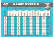 1990 Bowman Tiffany #47 Randy Myers UER back image