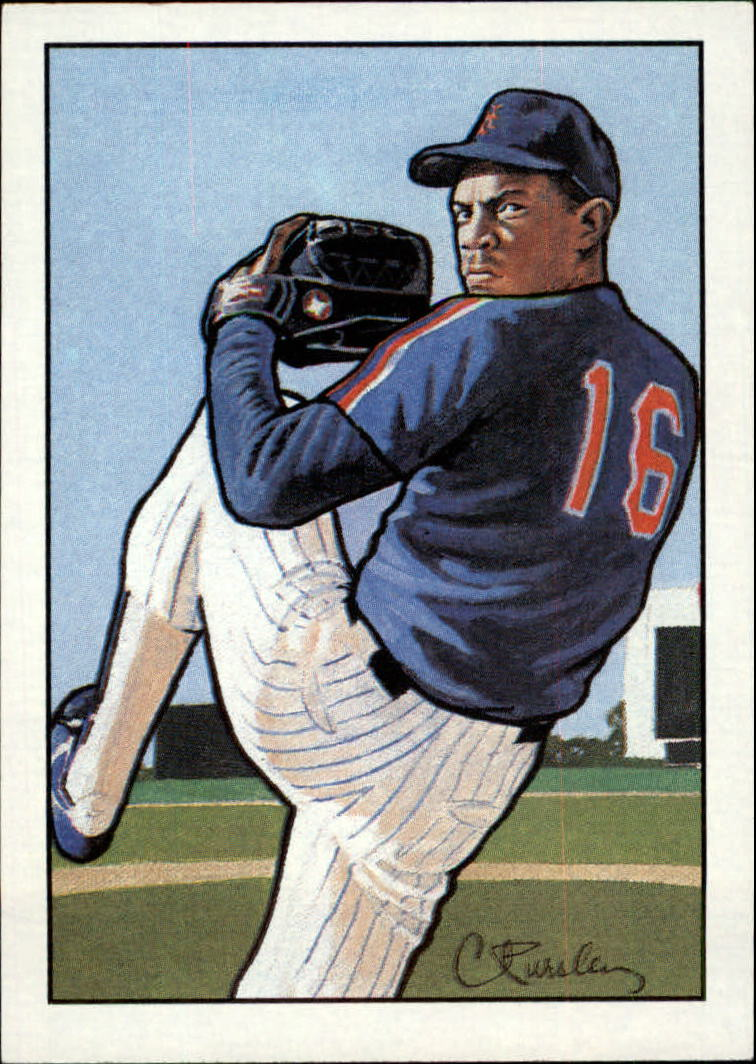 1990 Bowman Art Inserts #3 Dwight Gooden