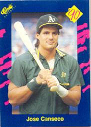1990 Classic Blue #22 Jose Canseco