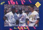 1990 Classic Blue #59B Bo/Rubin/McGwire