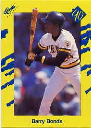 1990 Classic Yellow #T68 Barry Bonds