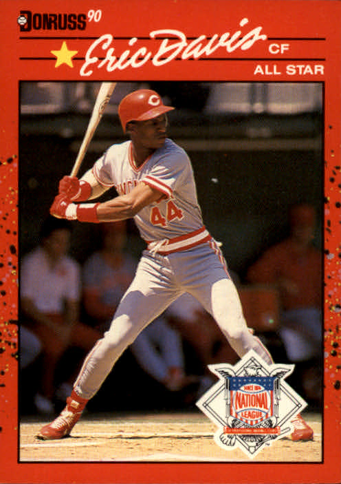 1990 Donruss #695A Eric Davis AS/(Recent Major/League Performance)