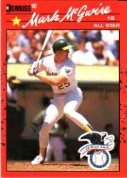 1990 Donruss #697B Mark McGwire AS COR
