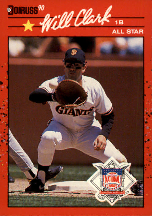 1990 Donruss #707A Will Clark AS ERR
