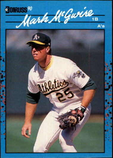 1990 Donruss Best AL #54 Mark McGwire