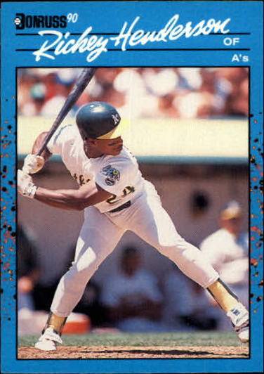 1990 Donruss Best AL #124 Rickey Henderson