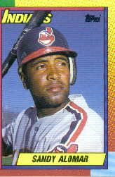 1990 Topps Traded Tiffany #2T Sandy Alomar Jr.