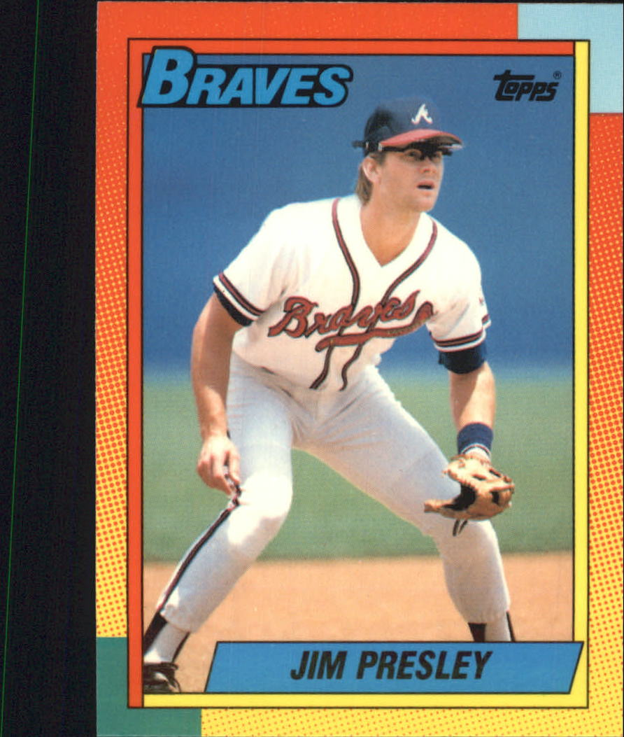 1990 Topps Traded Tiffany #98T Jim Presley front image