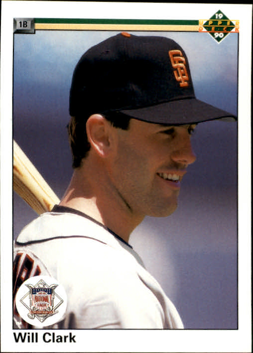 1990 Upper Deck #50 Will Clark Special/UER (Perenial, should/be perennial)