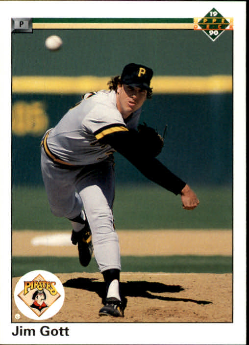 1990 Upper Deck #89A Jim Gott ERR/(Photo actually/Rick Reed)