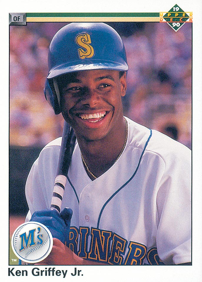 1990 Upper Deck #156 Ken Griffey Jr. UER/(Simultaniously)