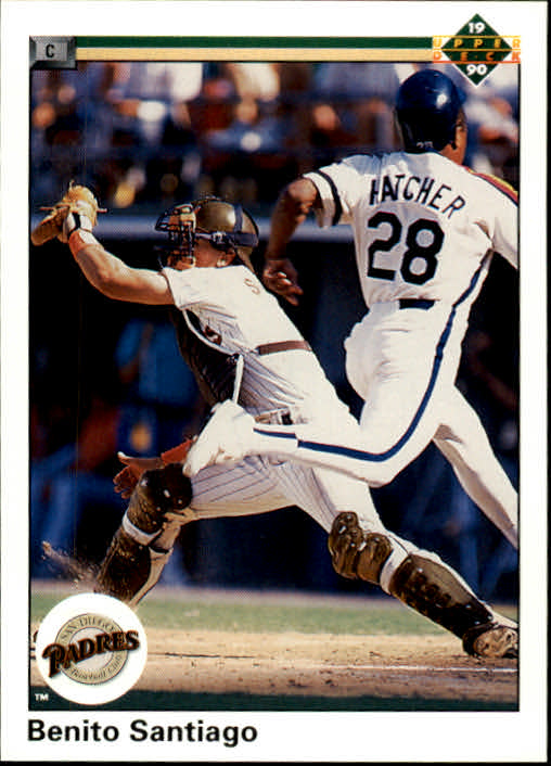 1990 Upper Deck #325 Benito Santiago UER/(Misspelled Santago/on card back)