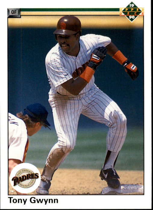 1990 Upper Deck #344 Tony Gwynn UER/Doubles stats on/card back are wrong