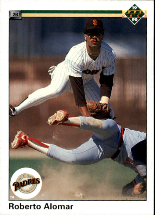 1990 Upper Deck #346 Roberto Alomar UER/(61 doubles, should/be 51)