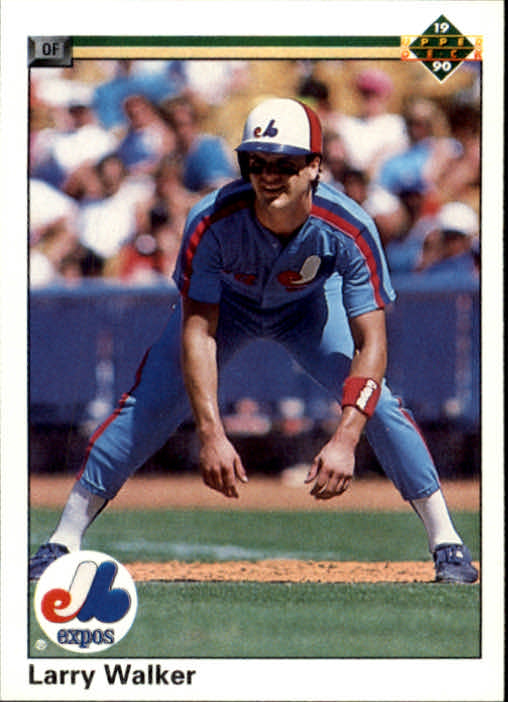 1990 Upper Deck #466 Larry Walker RC