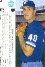 1990 Upper Deck #621 Rick Luecken UER RC/Innings pitched wrong back image