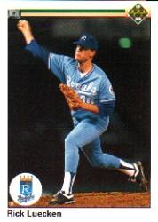 1990 Upper Deck #621 Rick Luecken UER RC/Innings pitched wrong