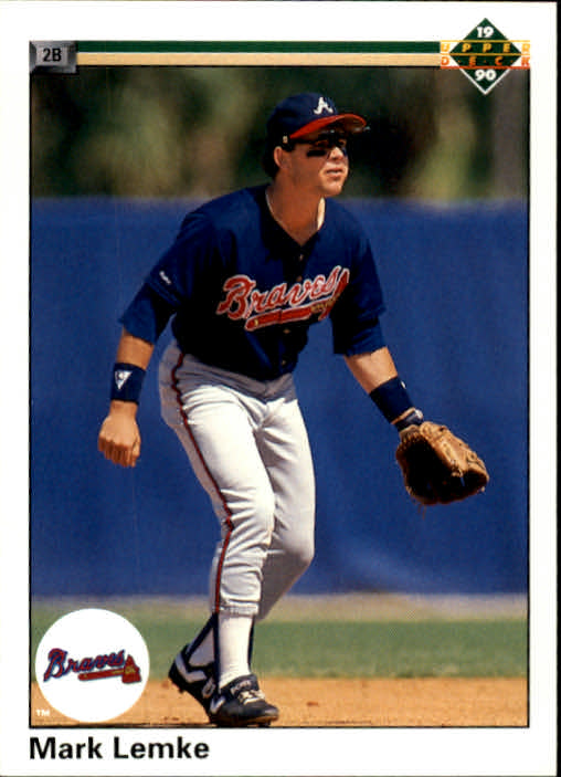 1990 Upper Deck #665 Mark Lemke UER/(Richmond misspelled/as Richomond)