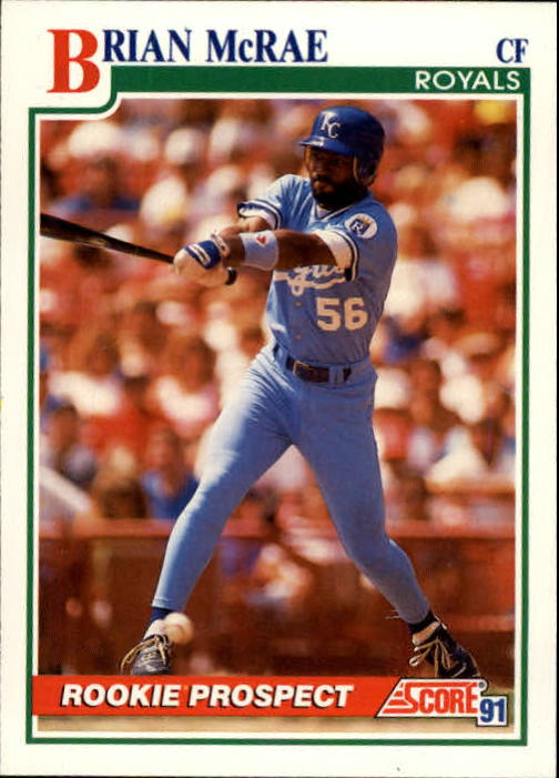 1991 Score #331 Brian McRae UER RC (No comma between city and state)