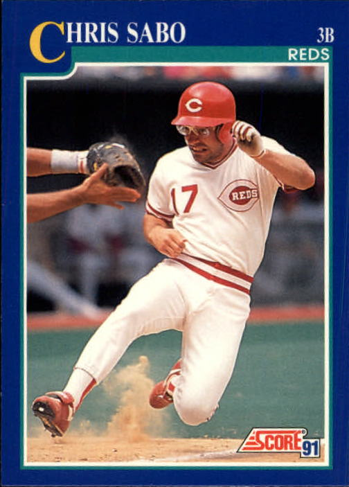 1991 Score #462 Chris Sabo