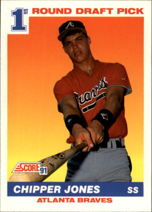 1991 Score #671 Chipper Jones RC