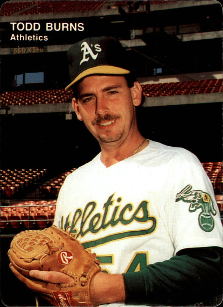 1991 A's Mother's #20 Todd Burns