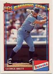1991 Bazooka #10 George Brett