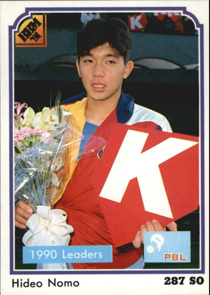1991 BBM Japan #201 Hideo Nomo LL/(Holding flowers)