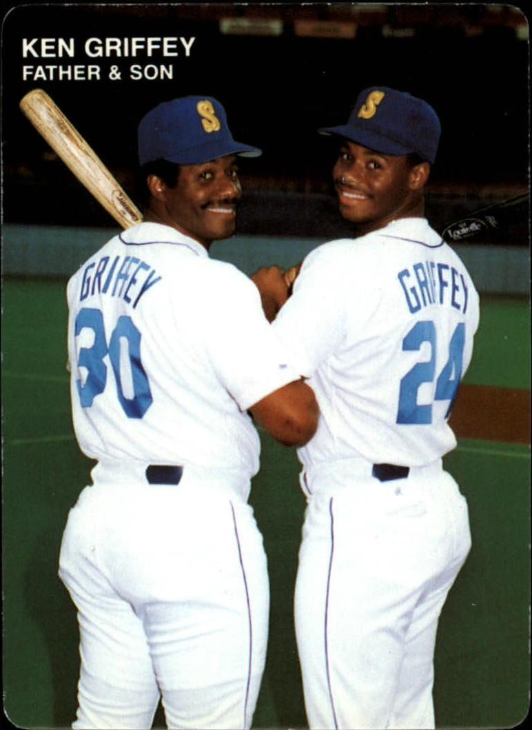 1991 Mother's Griffeys #4 Ken Griffey Sr. and/Ken Griffey Jr./(Looking ove