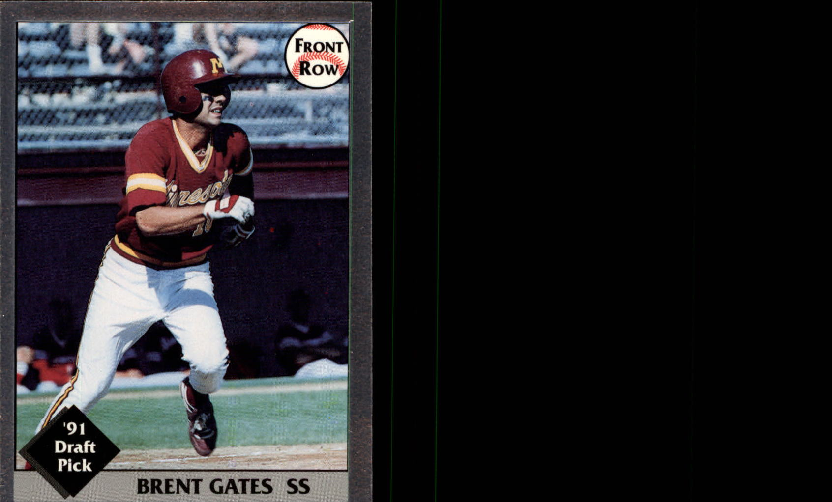 1991 Front Row Draft Picks Silver #22 Brent Gates