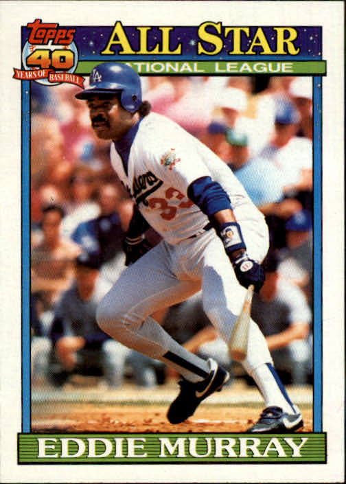 1991 Topps #397 Eddie Murray AS front image
