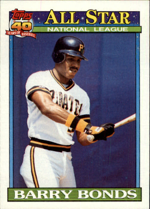 1991 Topps #401 Barry Bonds AS