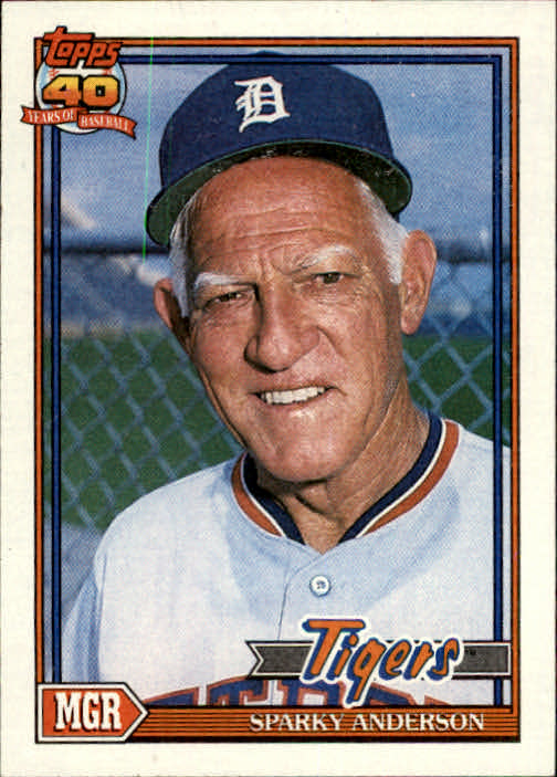 1991 Topps #519 Sparky Anderson MG