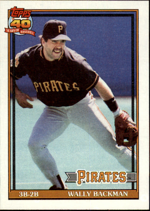 1991 Topps #722 Wally Backman