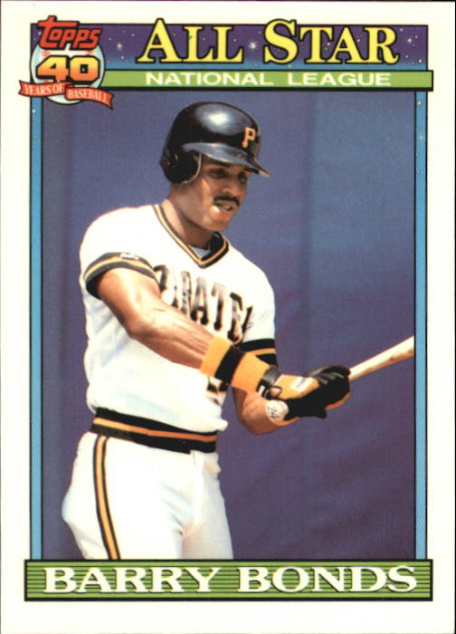 1991 Topps Tiffany #401 Barry Bonds AS front image