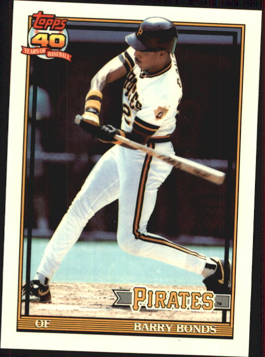 1991 Topps Tiffany #570 Barry Bonds