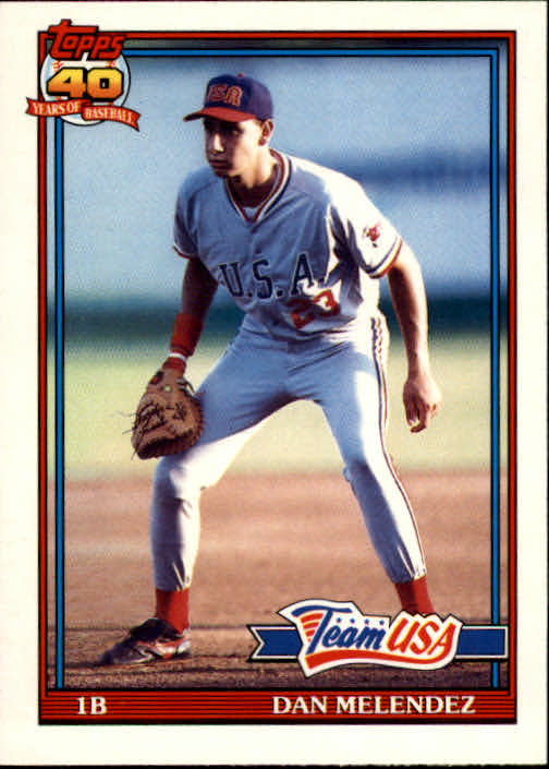 1991 Topps Traded #80T Dan Melendez USA RC