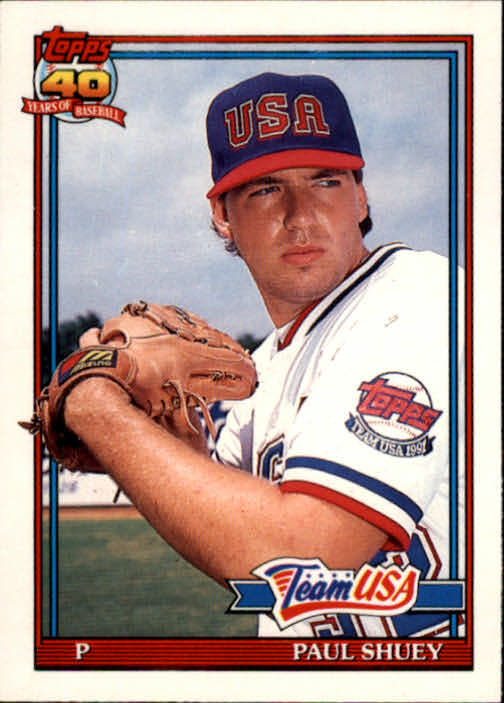 1991 Topps Traded #108T Paul Shuey USA RC