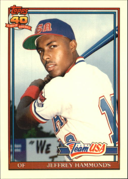 1991 Topps Traded Tiffany #51T Jeffrey Hammonds USA