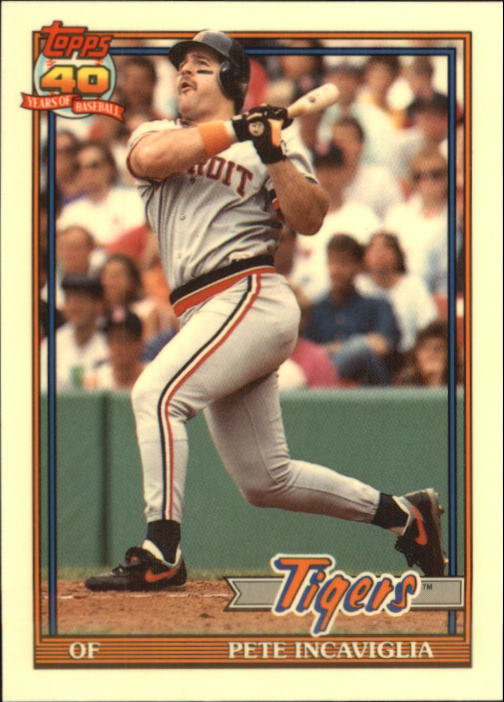 1991 Topps Traded Tiffany #57T Pete Incaviglia