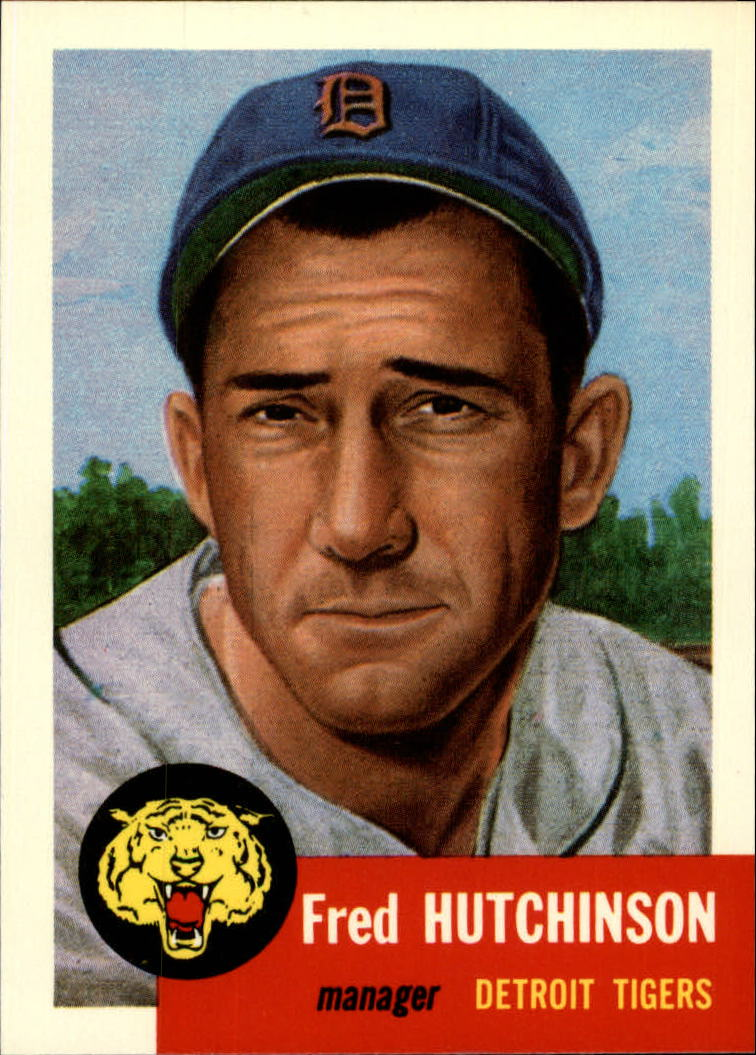 1991 Topps Archives 1953 #72 Fred Hutchinson front image