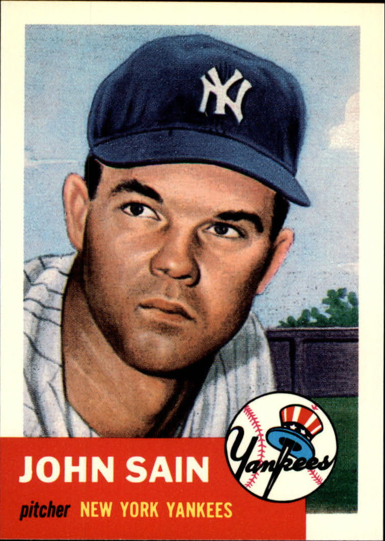 1991 Topps Archives 1953 #119 Johnny Sain front image