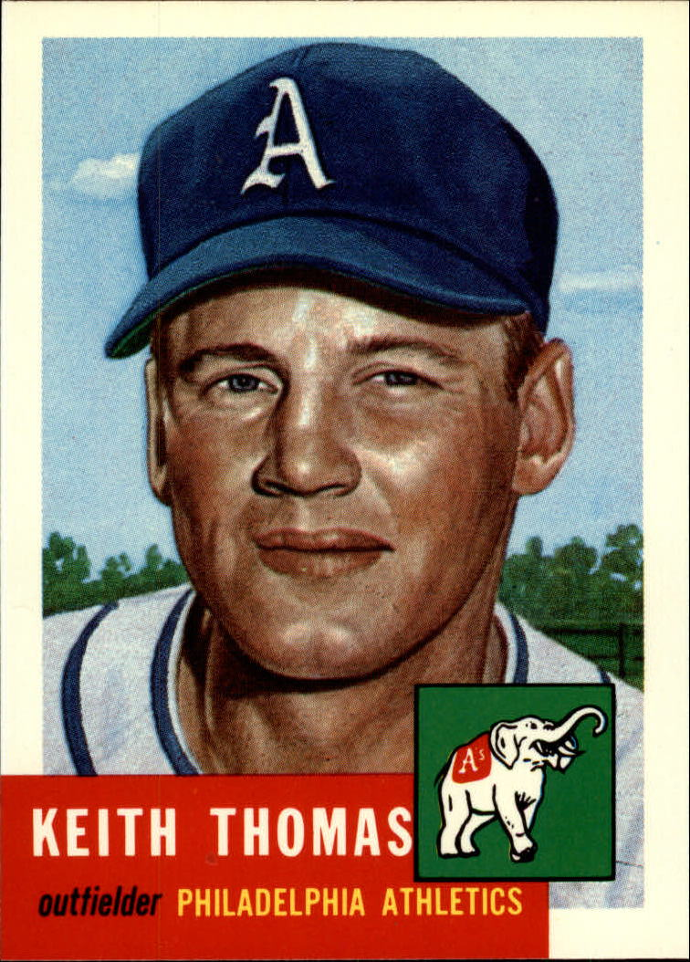 1991 Topps Archives 1953 #129 Keith Thomas front image