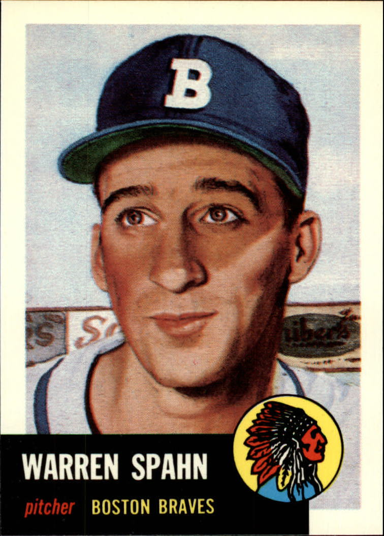 1991 Topps Archives 1953 #147 Warren Spahn front image