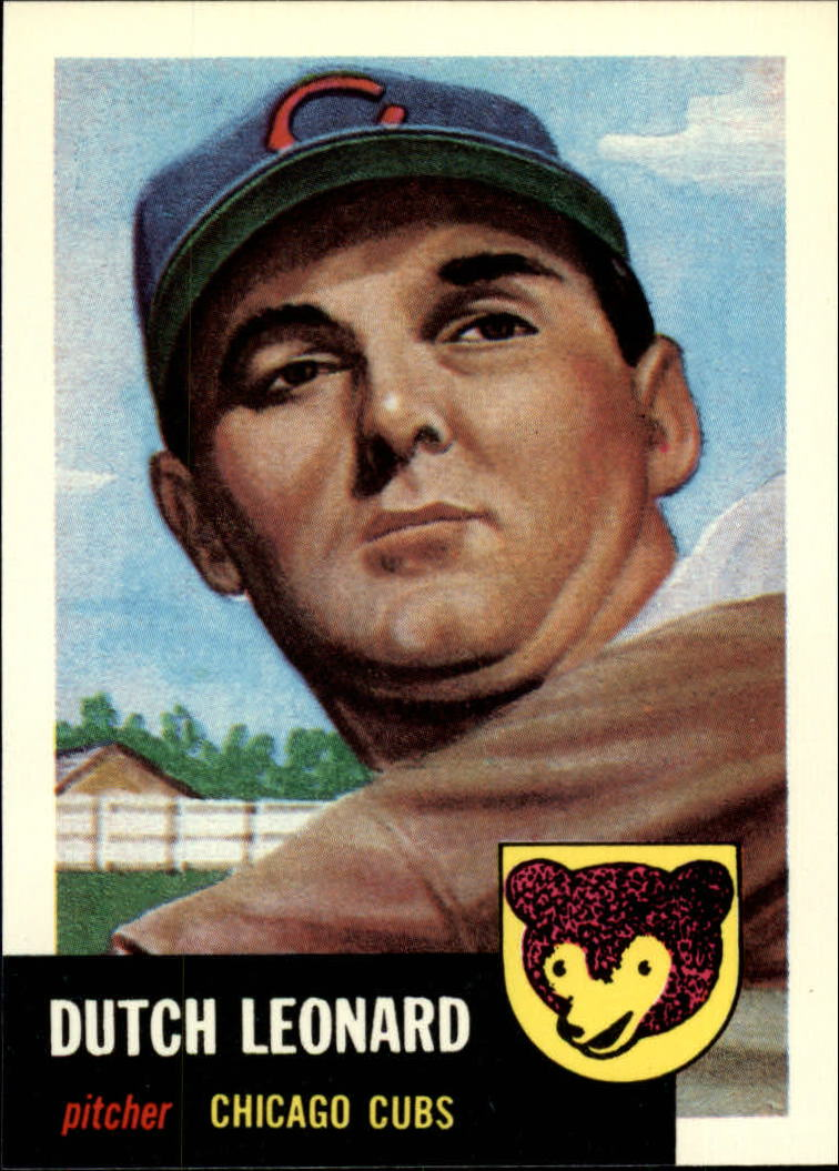 1991 Topps Archives 1953 #155 Dutch Leonard front image