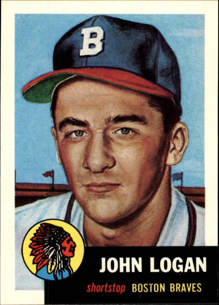 1991 Topps Archives 1953 #158 Johnny Logan front image