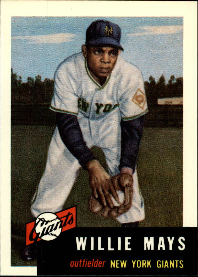 1991 Topps Archives 1953 #244 Willie Mays front image