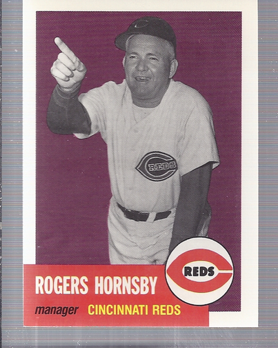1991 Topps Archives 1953 #289 Rogers Hornsby MG