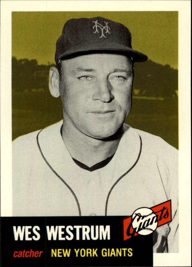 1991 Topps Archives 1953 #323 Wes Westrum front image